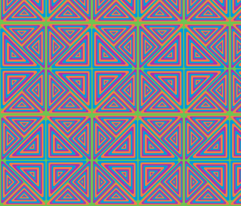 Triangles - Brick fabric by azureimagestudio on Spoonflower - custom fabric