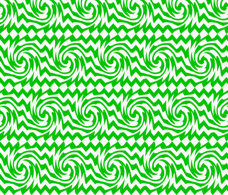 triple_whirl_and_pinch_pattern_green fabric by possumspatch on Spoonflower - custom fabric