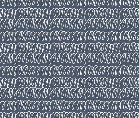 Scribbles - Navy fabric by scarlette_soleil on Spoonflower - custom fabric