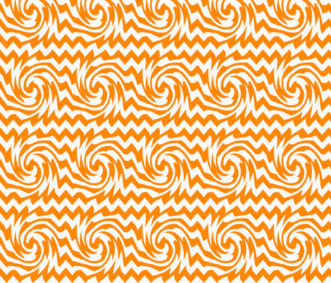 triple_whirl_and_pinch_pattern_orange fabric by possumspatch on Spoonflower - custom fabric