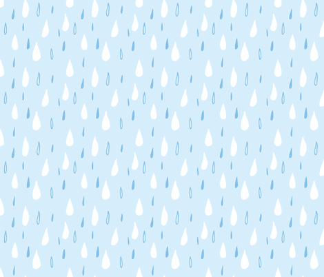 Rainy Day - Rain Drops fabric by scarlette_soleil on Spoonflower - custom fabric