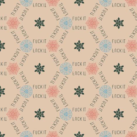 elegant fuckit fabric by secretbean on Spoonflower - custom fabric