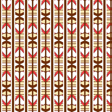 Hay June - abstract arrow stripe drop fabric by franbail on Spoonflower - custom fabric