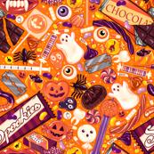Creepy Halloween Candy on Orange