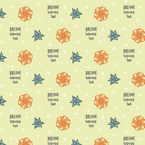 "yellow ""breathe through this"" fabric by secretbean on Spoonflower - custom fabric"