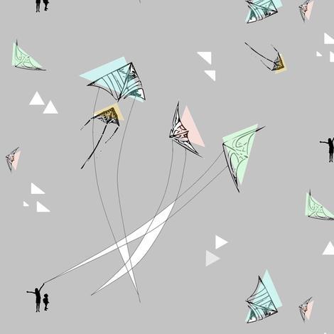 Mod Kite Motion fabric by elliegooddesign on Spoonflower - custom fabric
