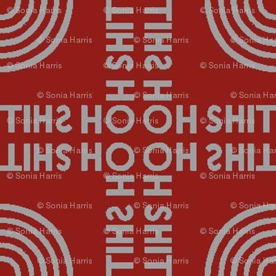 """""""oh shit"""" circular tile"""