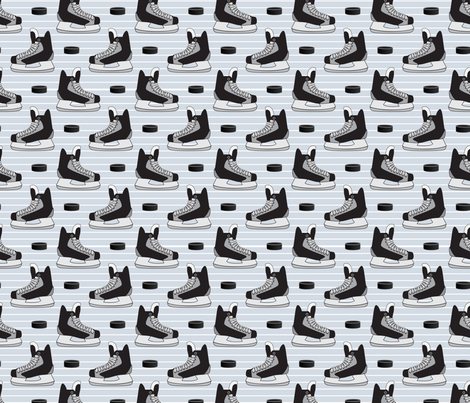 Hockey Skates on Ice fabric by dearchickie on Spoonflower - custom fabric