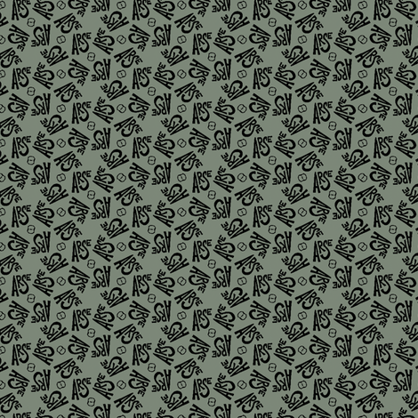 "Olive green ""arse"" pattern fabric by secretbean on Spoonflower - custom fabric"