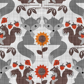 Fox & Squirrel Rustic Fall Damask