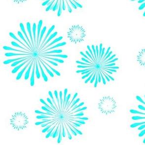 Fireworks - turquoise