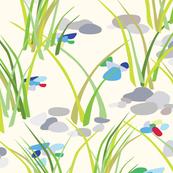 Beach Grass & Pebbles
