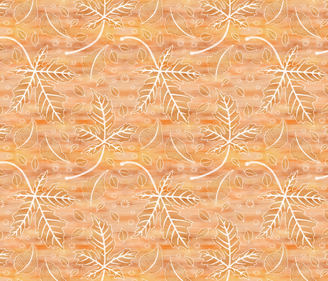 Rustic Autumn Leaves fabric by jenuine_designs on Spoonflower - custom fabric