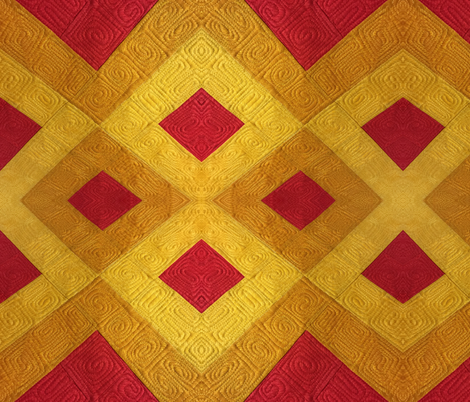 Red & Yellow 2 fabric by livingwaterquilter on Spoonflower - custom fabric