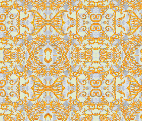 Royalty Halloween Abstract Pattern fabric by palusalu on Spoonflower - custom fabric