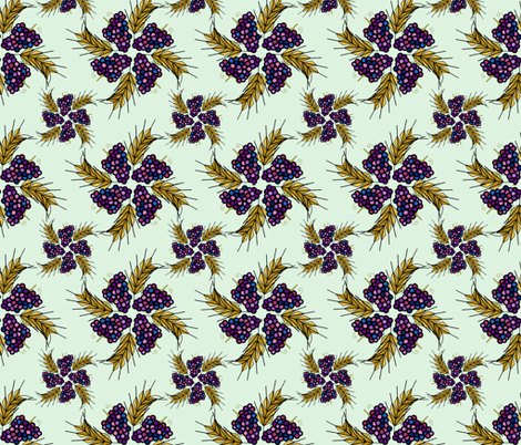 First Fruits Harvest (Celedon) fabric by twilfley on Spoonflower - custom fabric