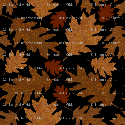 Rustic Golden Oak Leaves