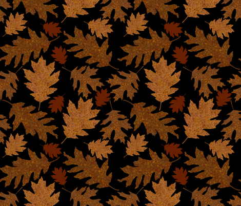 Rustic Golden Oak Leaves fabric by theartofvikki on Spoonflower - custom fabric