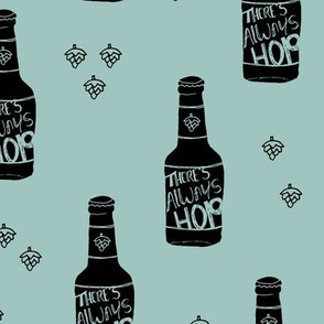 Daddy loves beer there's always hope funny hop bottle illustration