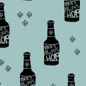 Daddy loves beer there's always hope funny hop bottle illustration