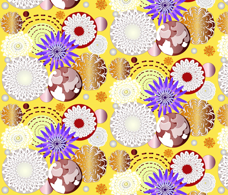 Rustic Fall Floral fabric by gracelillydesigns on Spoonflower - custom fabric