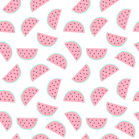 Watermelon pieces  fabric by maddyz on Spoonflower - custom fabric
