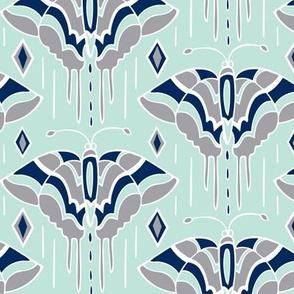 La maison des papillons - Butterflies  Mint & Grey