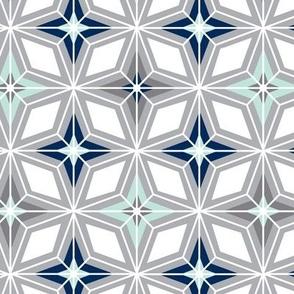 Nordic Star - Grey Midcentury Modern Geometric