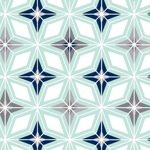 Nordic Star - Mint Midcentury Modern Geometric