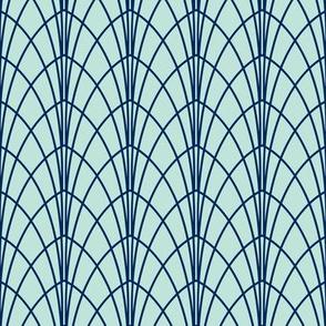 Arcada - Modern Geometric Mint & Navy