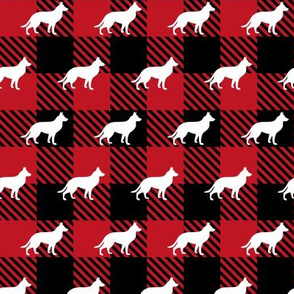 Red Buffalo Plaid - German Shepherd