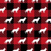 Red Buffalo Plaid - German Shepherd
