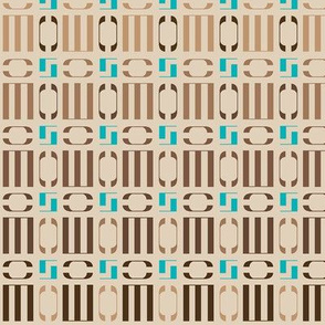 Beige geometric ornament