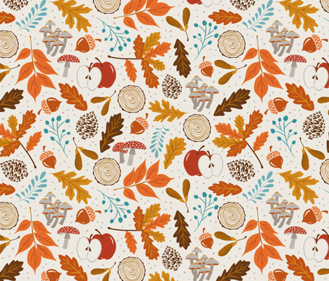 Autumn Woods fabric by heatherdutton on Spoonflower - custom fabric