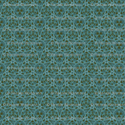 teal graphical mix
