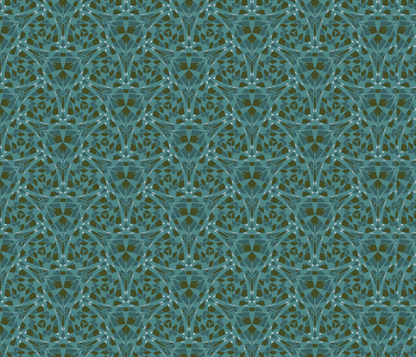 teal graphical mix fabric by sewingfever on Spoonflower - custom fabric