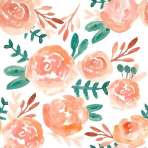 autumn blush watercolor floral