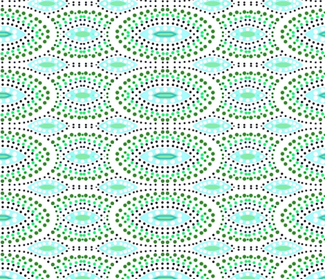 sandy aqua pointillism-01 fabric by dk_designs on Spoonflower - custom fabric