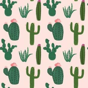 Kristin Nicole Cactus Floral on Pink