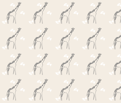 Cream giraffe fabric by nikkifrank on Spoonflower - custom fabric