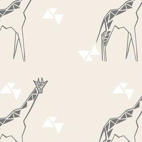 Cream giraffe