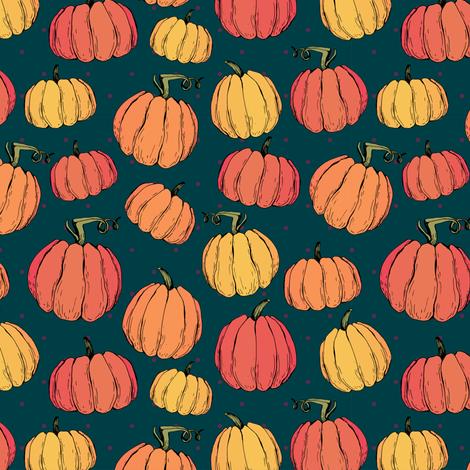 Funny pumpkins fabric by kotyplastic on Spoonflower - custom fabric
