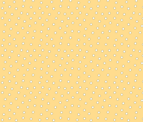 White Pearl Dots on Yellow fabric by phyllisdobbs on Spoonflower - custom fabric