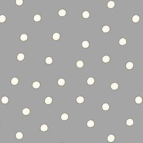 White Pearl Dots on Gray