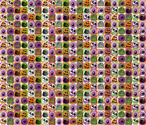 happy halloween! fabric by kfay on Spoonflower - custom fabric