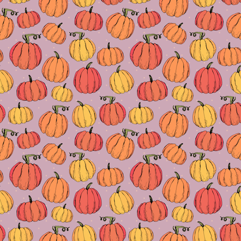 Funny cozy rustic autumn pumpkins fabric by kotyplastic on Spoonflower - custom fabric