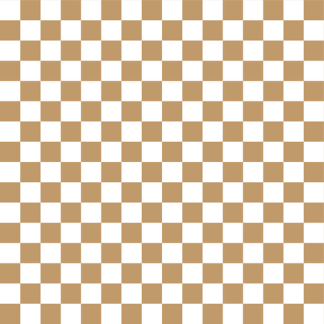 Half Inch White and Camel Brown Checkerboard Squares fabric by mtothefifthpower on Spoonflower - custom fabric