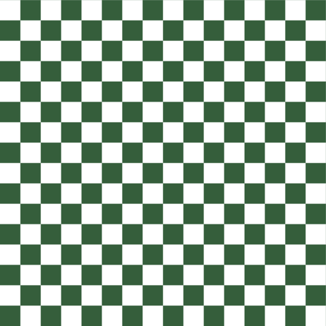 Half Inch White and Hunter Green Checkerboard Squares fabric by mtothefifthpower on Spoonflower - custom fabric