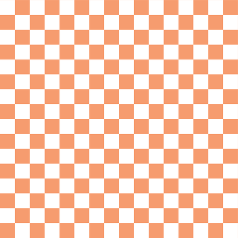 Half Inch White and Peach Checkerboard Squares fabric by mtothefifthpower on Spoonflower - custom fabric