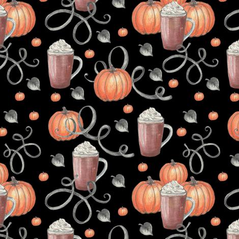 Pumpkin Latte's fabric by twix on Spoonflower - custom fabric